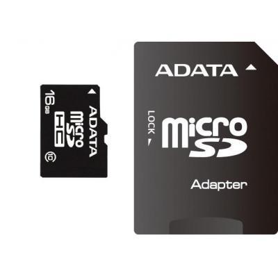 Adata flashgeheugen: 16GB microSDHC Class 10 - Zwart