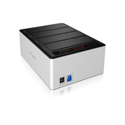 ICY BOX IB-141CL-U3 HDD/SSD docking station - Aluminium, Zwart