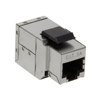 LogiLink Inline Coupler RJ45 Cat.6A Fully Shielded, snap-in mounting - Zilver