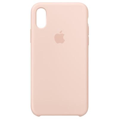 Apple mobile phone case: Siliconenhoesje voor iPhone XS - Rozenkwarts - Roze, Zand