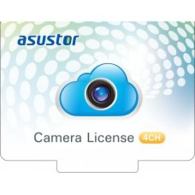Asustor 4 CAMERAS LICENSE FOR SURVEILLANCE CENTER Software licentie