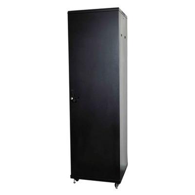"""Lanview 19"""", 42U, 600 x 800 x 2080 mm, 300 Kg max, Steel/Tempered Glass, Black Rack - Zwart"""