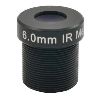Acti beveiligingscamera bevestiging & behuizing: Fixed focal, f6.0mm, Fixed iris, F1.8 - Zwart