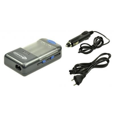 2-power oplader: Universal Camera Battery Charger, EU Power Cord - Zwart