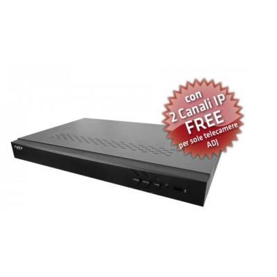 Adj digitale video recorder: 16 ch, 704 x 576, H.264, NTSC/PAL, USB 2.0, HDMI, Fast Ethernet, black - Zwart