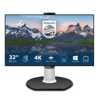 Philips P Line LCD-met USB-C-dock Monitor - Zwart, Wit