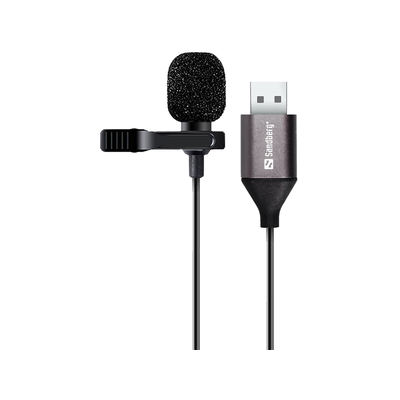 Sandberg Streamer USB Clip Microphone Microfoon - Zwart