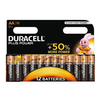 Duracell batterij: Alkaline, 1.5v, 12st - Zwart, Oranje