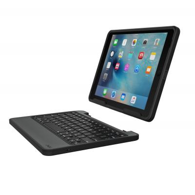 Zagg mobile device keyboard: Rugged book - Zwart, QWERTY