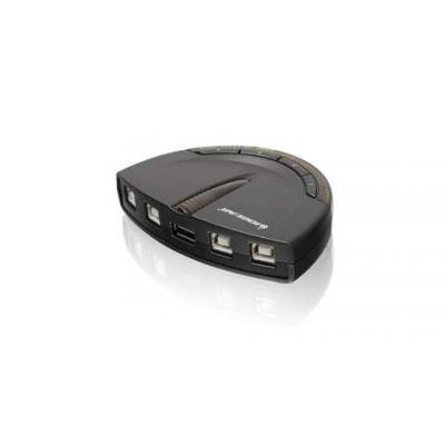 Iogear printerschakelaar: 4 ports, USB A, 480Mbps