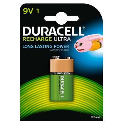 Duracell batterij: Recharge Ultra 9V-batterijen, verpakking van 1 - Zwart