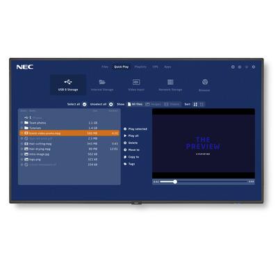 NEC MultiSync V404-MPi3 Public display - Zwart