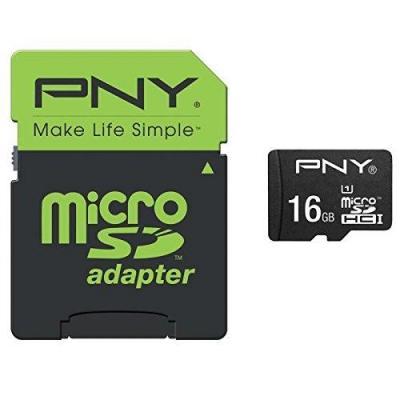 Pny flashgeheugen: MicroSD Performance 16GB - Zwart