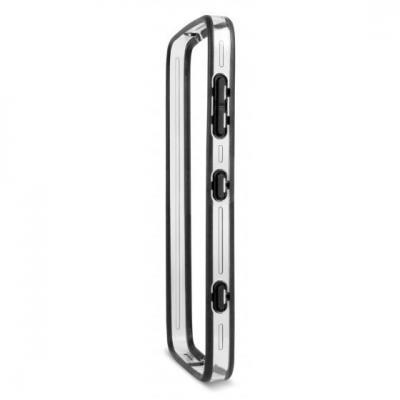 Doro mobile phone case: Bumper Liberto 825 - Zwart, Wit