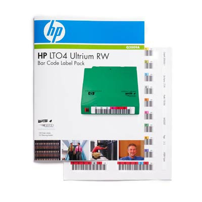 Hewlett packard enterprise barcode label: HP LTO4 Ultrium RW Bar Code Label Pack