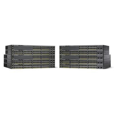 Cisco Catalyst 2960X 48-port Gigabit Ethernet PoE+ (740W) + 2 SFP+ uplinks LAN Base Switch - Zwart