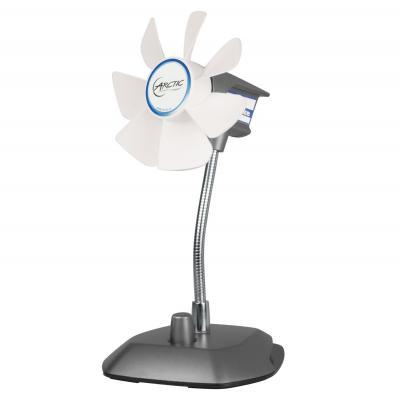 Arctic ventilator: USB Desktop Fan - Zwart, Zilver, Wit