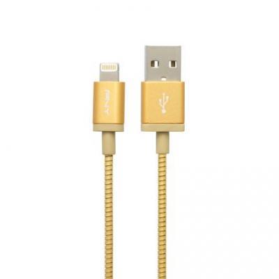 Pny kabel: USB A/Lightning 1.2 m - Goud, Metallic