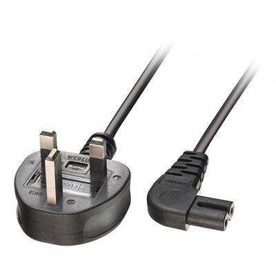 Lindy UK 3 Pin Plug to IEC C17 Fully moulded with 3A Total length: 0.5m Colour: Black 10 year warranty .....