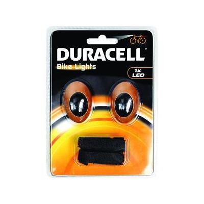 Duracell zaklantaarn: Bunny Eyes Bicycle Light Set - Oranje