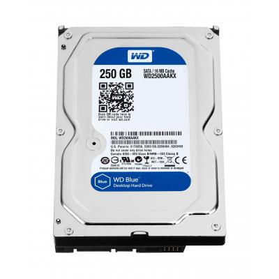 Western Digital Blue, 250 GB Refurbished Interne harde schijf - Zwart - Refurbished B-Grade