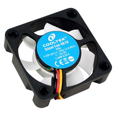 Cooltek Silent Fan 4010 Hardware koeling - Zwart, Wit