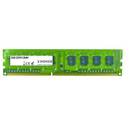 2-power RAM-geheugen: 2GB DDR3 1333MHz DR DIMM Memory - replaces KN.2GB0C.007