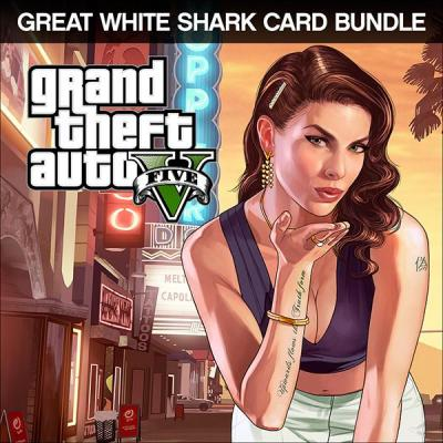 Rockstar games game: Grand Theft Auto V Great White Shark Cash Card Bundle PC