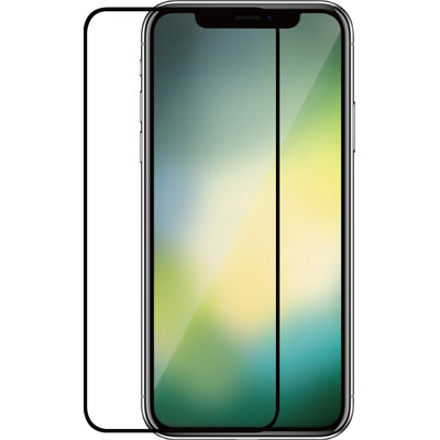Azuri 2x Tempered Glass flat RINOX ARMOR met zwarte frame - voor iPhone Xr/11 Screen protector - Zwart, Transparant