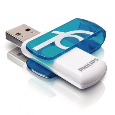 Philips USB flash drive: USB Flash Drive - Blauw, Wit