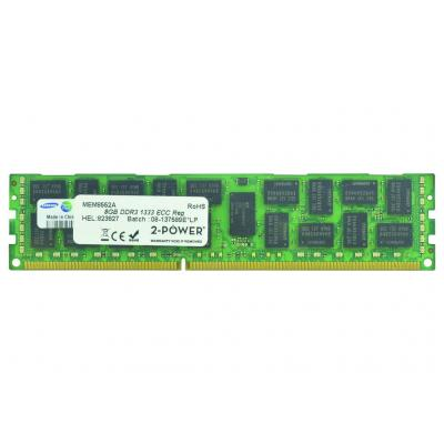 2-power RAM-geheugen: 8GB DDR3 1333MHz ECC RDIMM 2Rx4 LV Memory - replaces 664690-001
