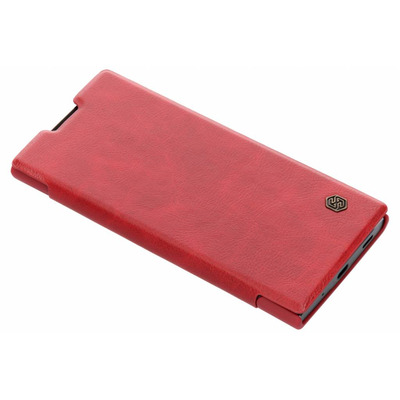 Qin Leather Slim Booktype Sony Xperia XA2 Plus - Rood / Red Mobile phone case