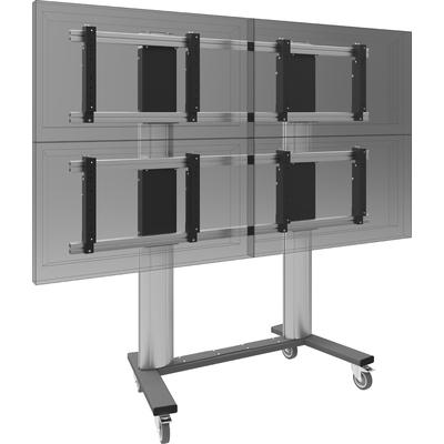 SmartMetals VW5.32255-080 TV standaard - Aluminium, Grijs