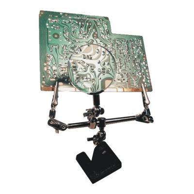 M-cab loep: Third hand with magnifier - Zwart