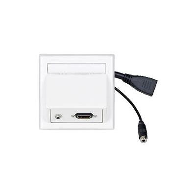 VivoLink Wall Connection HDMI + 3.5mm, White Wandcontactdoos - Wit