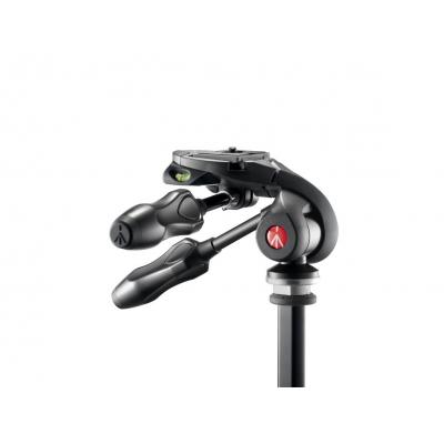 Manfrotto statiefkop: 3-way photo head w/ compact foldable handles - Zwart