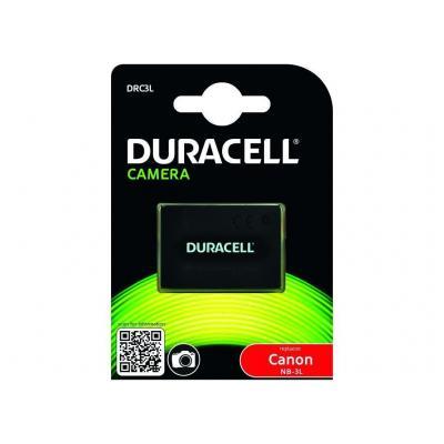 Duracell batterij: DRC3L, 820 mAh, 3.7 V - Zwart