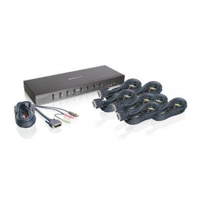Iogear GCS1208KIT1 KVM switch - Zwart