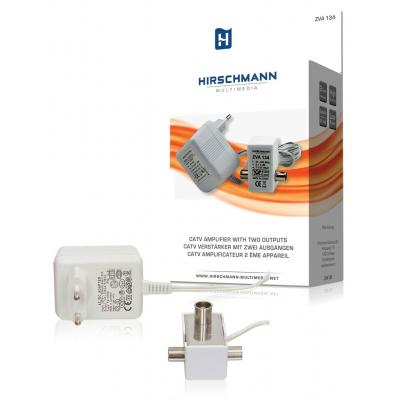 Hirschmann signaalversterker TV: Catv amplifier with two outputs amplifier 2 x 6 db high frequency, not return suitable