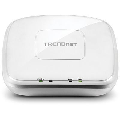 Trendnet access point: N300 PoE Access Point, 1 x PoE Gigabit LAN RJ-45 - Wit