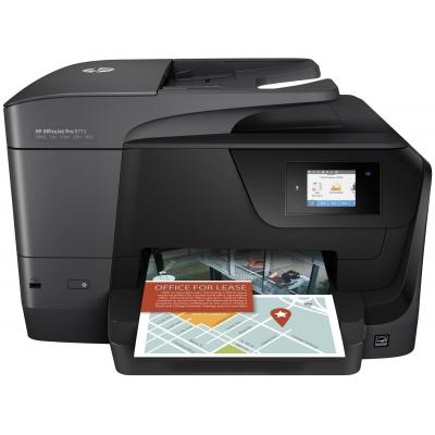 Hp multifunctional: OfficeJet 8715 AiO - Zwart, Cyaan, Magenta, Geel
