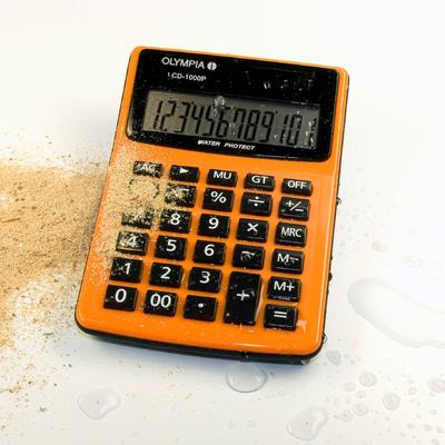 Olympia LCD 1000P Calculator - Zwart, Oranje