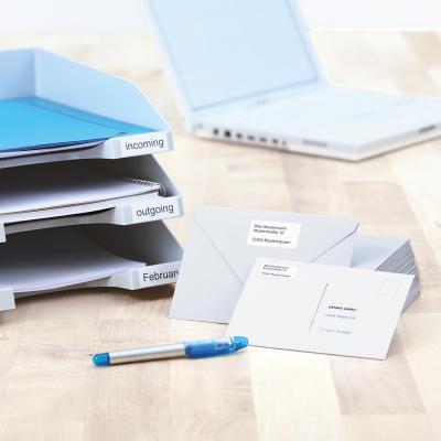Herma etiket: Inkjet labels A4 38.1x21.2 mm white paper matt 6500 pcs. - Wit