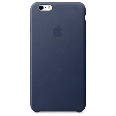 Apple mobile phone case: Leren hoesje voor iPhone 6s Plus - Middernachtblauw