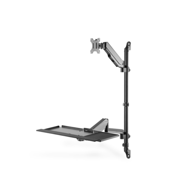 """Digitus Sit-Stand Workstation wall single mount, black max load capacity: 1-8 kg,max Screen Size: 17""""-32"""" ....."""