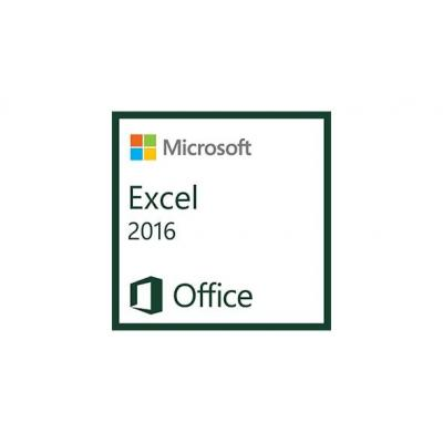 Microsoft spreadsheet software: Excel 2016, 1u