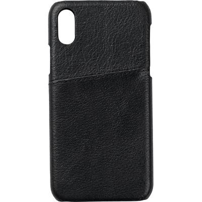 ESTUFF Iphone X Leather case Mobile phone case - Zwart