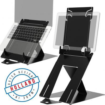 R-go Tools R-Go Riser Duo, Tablet en Laptop standaard, verstelbaar, zwart