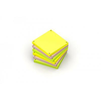 Oxford 7,5x7,5cm - Blanco - 80 vel/blok - SCRIBZEE Compatible - Assorti - Pak 6 blokken Etiket