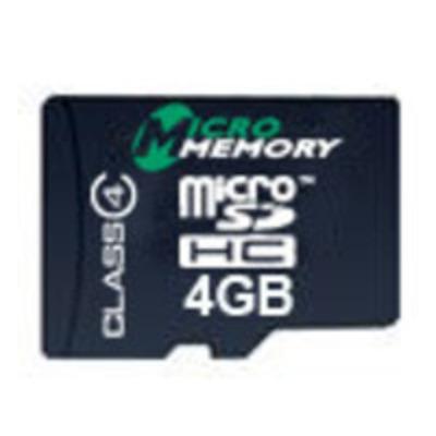 CoreParts MMMICROSDHC4/4GB Flashgeheugen - Zwart